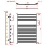 Frontline Curved Towel Rail 500x825mm Chrome