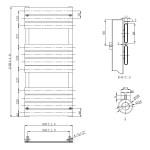 Frontline Piazza Designer Radiator Chrome 1150x500mm