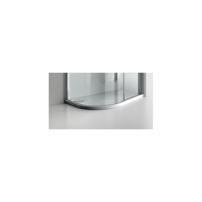 Aquaglass  Lux Dedicated Solid Surface Shower Tray Right Hand