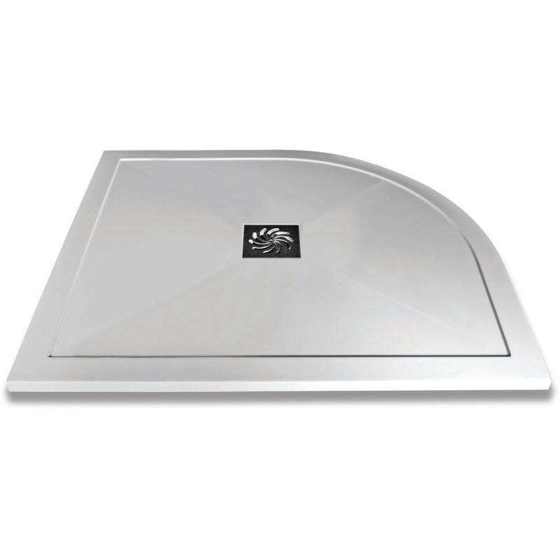 Aquaglass 1200x900mm Slimline Offset Quadrant Shower Tray LH