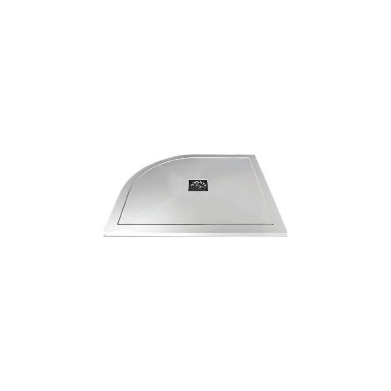 Aquaglass 900x760mm Slimline Offset Quadrant Shower Tray