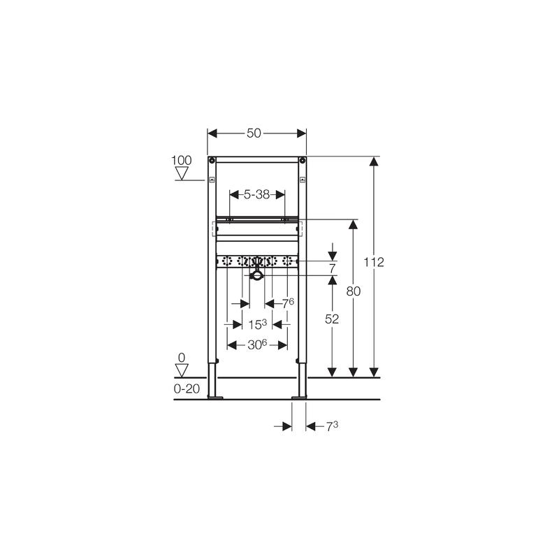 Geberit Duofix Frame for Washbasin, H112