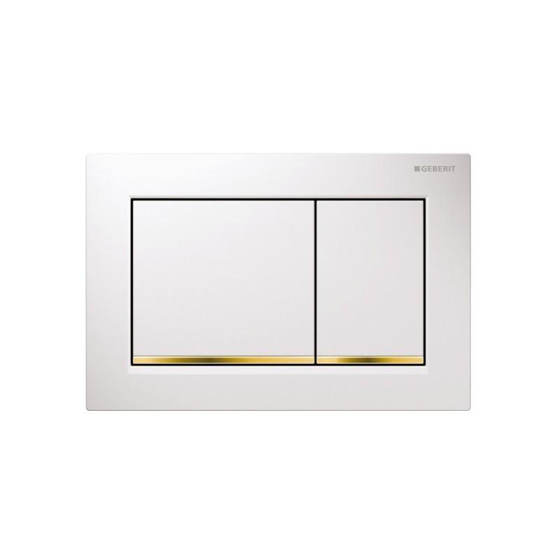 Geberit Omega30 Flush Plate White & Gold