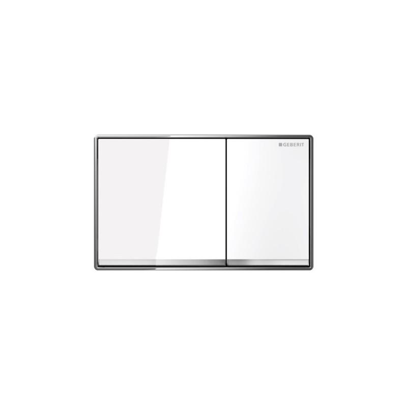 Geberit Omega60 Flush Plate White Glass
