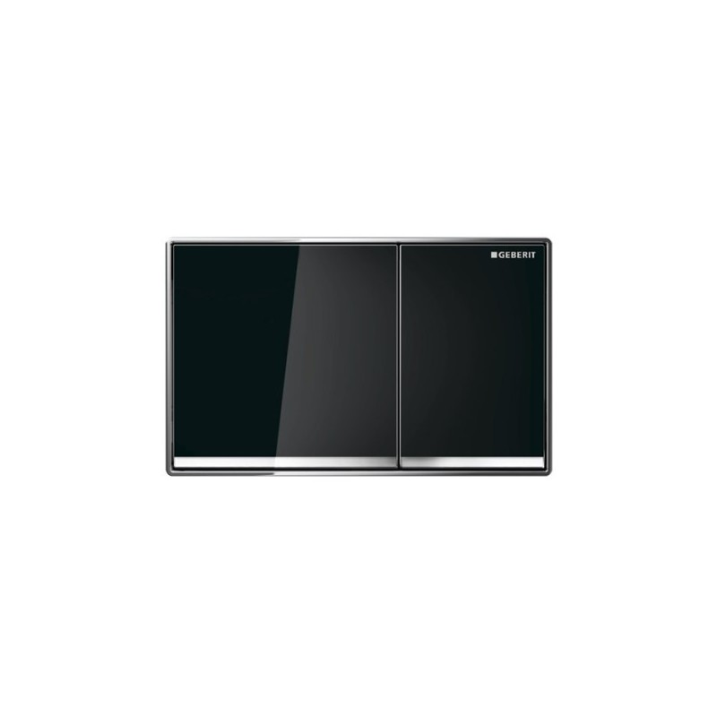 Geberit Omega60 Flush Plate Black Glass