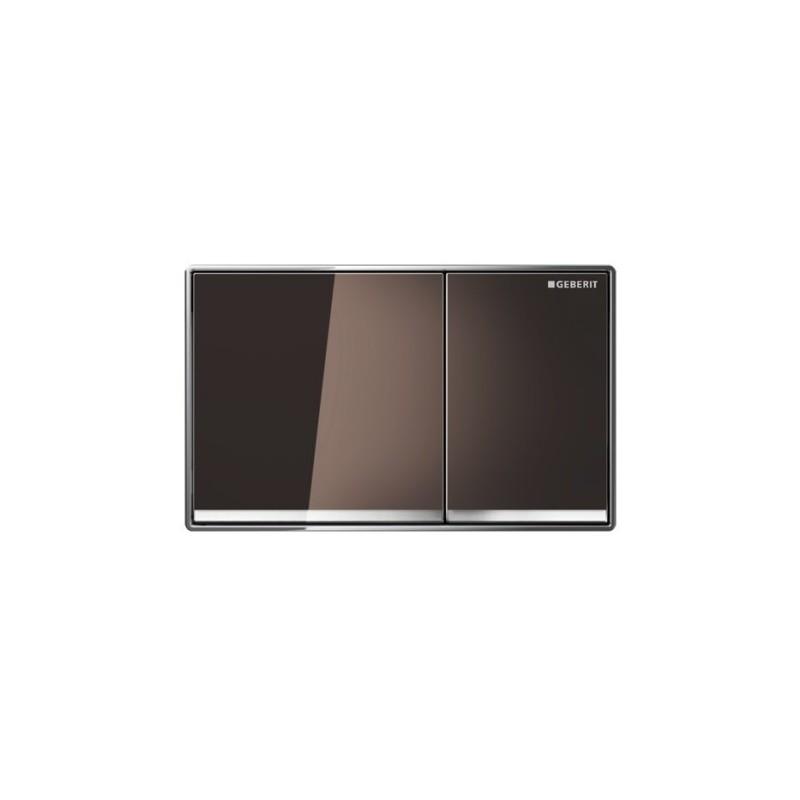 Geberit Omega60 Flush Plate Umber Glass