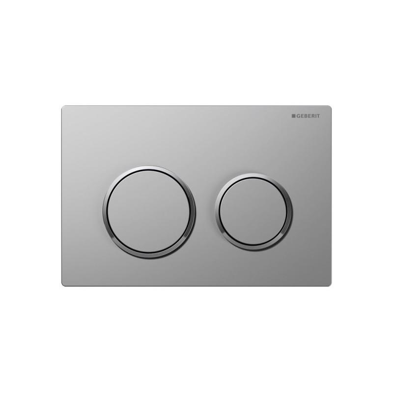 Geberit Omega20 Flush Plate Matt Chrome