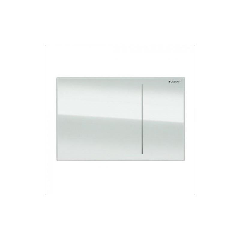 Geberit Omega70 Flush Plate for Furniture White Glass