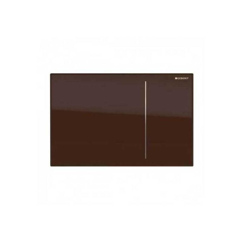 Geberit Omega70 Flush Plate for Solid Wall Umber Glass