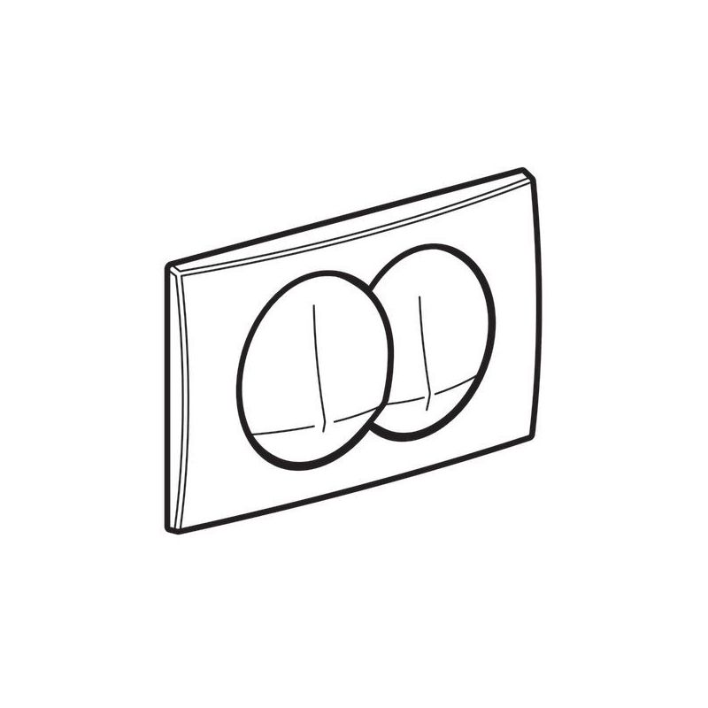 Geberit Delta20 Flush Plate, Dual Flush, White Alpine