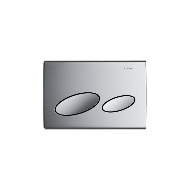 Geberit Flush Plate Kappa20 Dual Flush, Plastic, Gloss Chrome