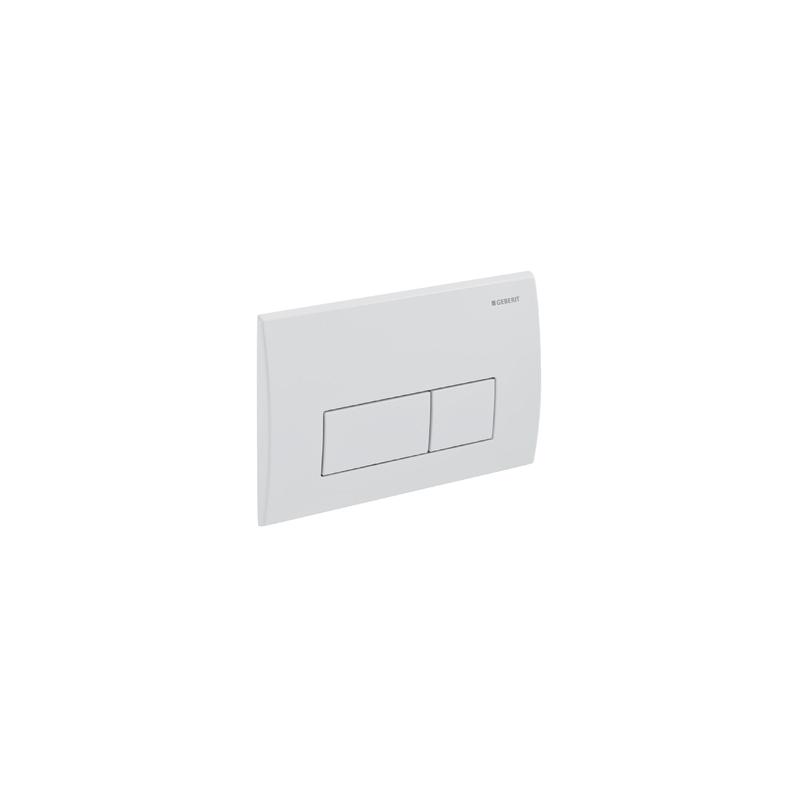Geberit Flush Plate Kappa50 Dual Flush, Die-Cast Zinc, White