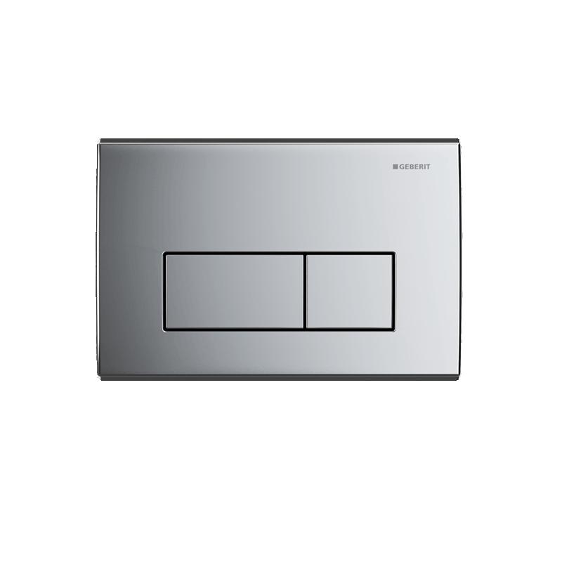 Geberit Flush Plate Kappa50 Dual Flush, Zinc, Gloss Chrome