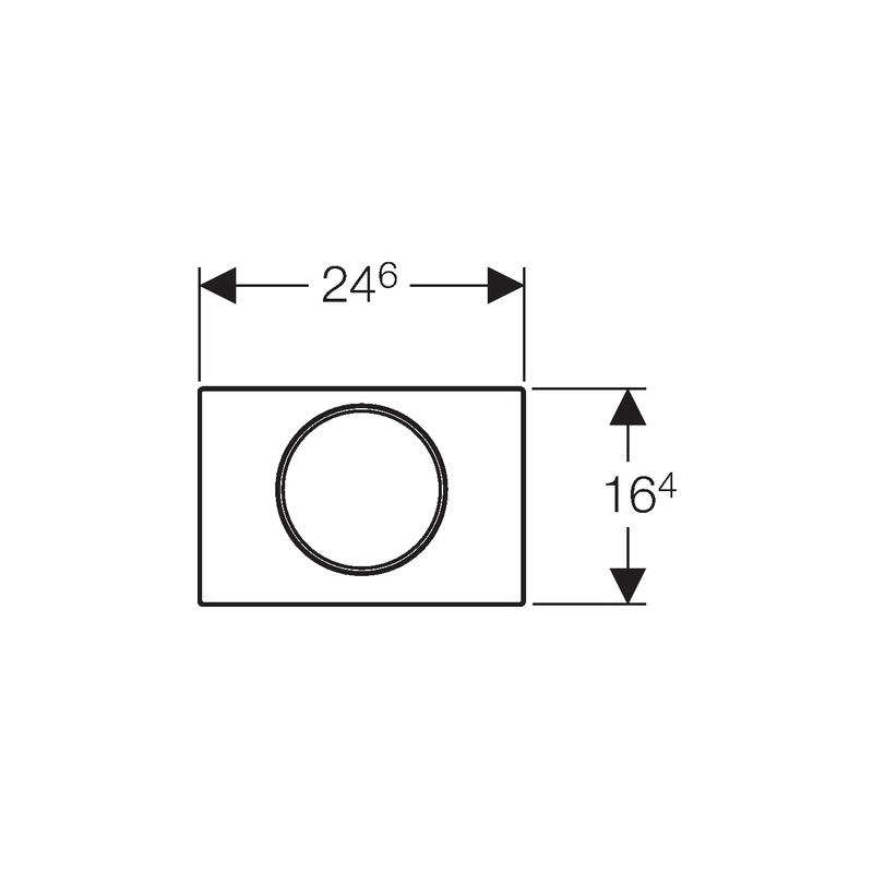 Geberit Flush Plate Sigma10 Single Flush Bright / Matt Chrome