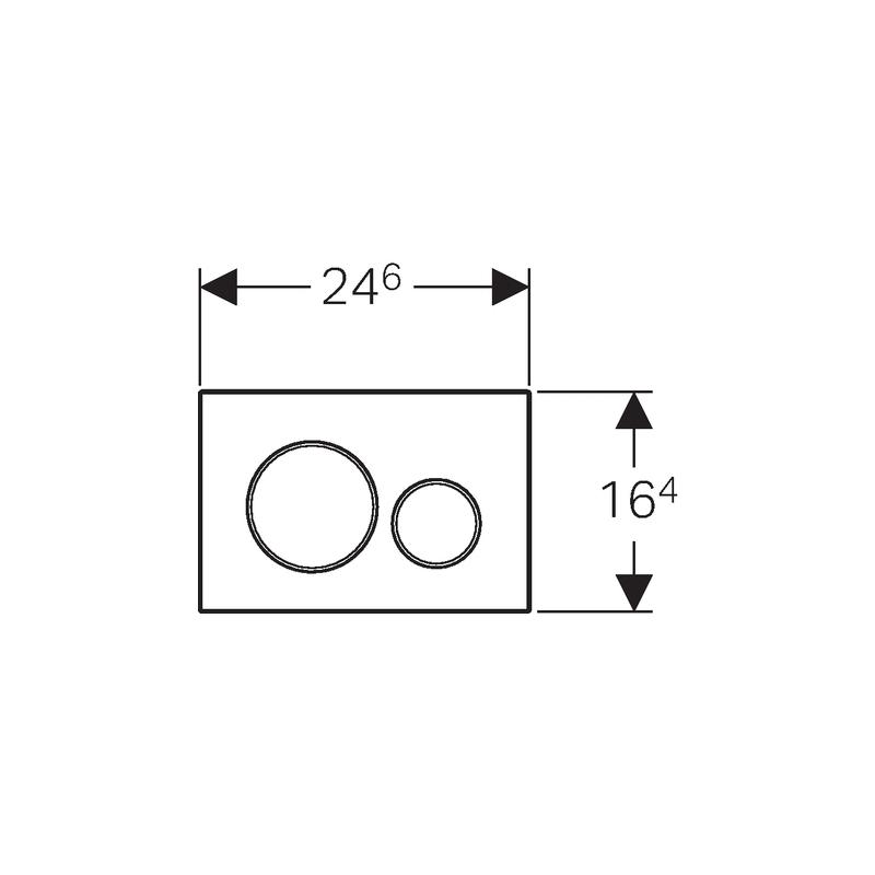 Geberit Sigma20 Dual Flush Plate White/Gloss Chrome/White