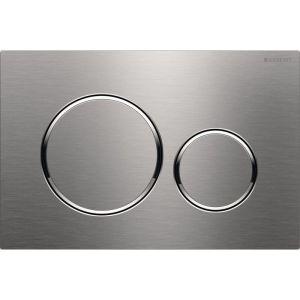 Geberit Sigma20 Dual Flush Plate Brushed Steel