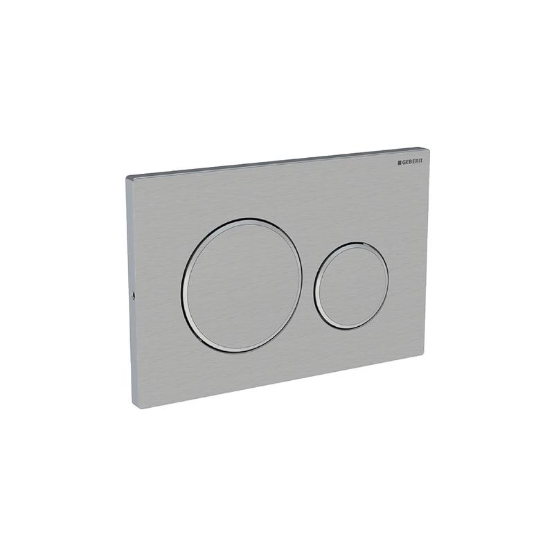 Geberit Sigma20 Dual Flush Plate Screwable Stainless Steel