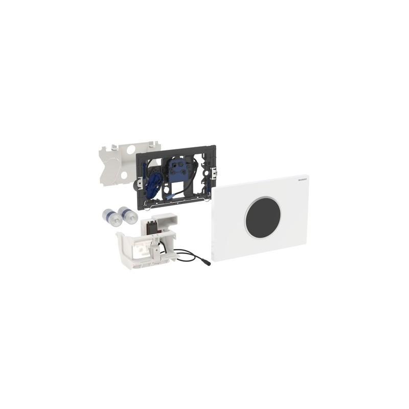 Geberit Flush Plate Sigma10 Battery Black / Bright Chrome