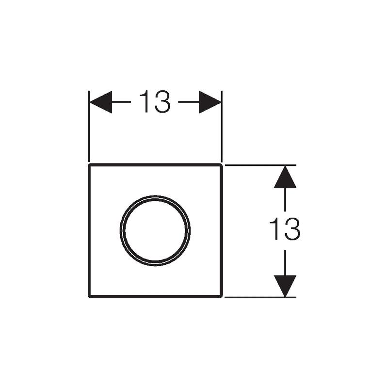 Geberit Urinal Flush Control Pneumatic Sigma10, Black/Chrome