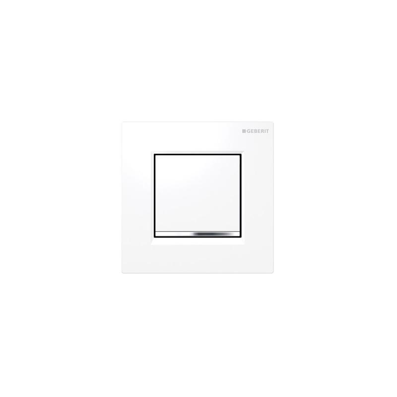 Geberit Sigma30 Urinal Flush Pneumatic White/Gloss Chrome/White