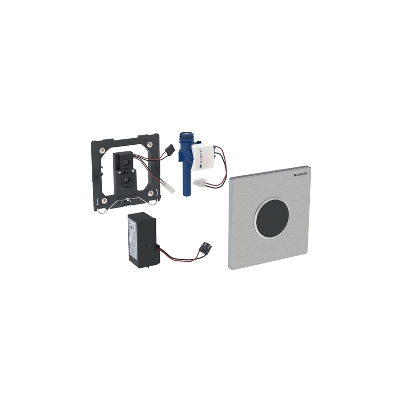 Geberit Urinal Flush Control Mains, Sigma10, Gloss/Matt Chrome