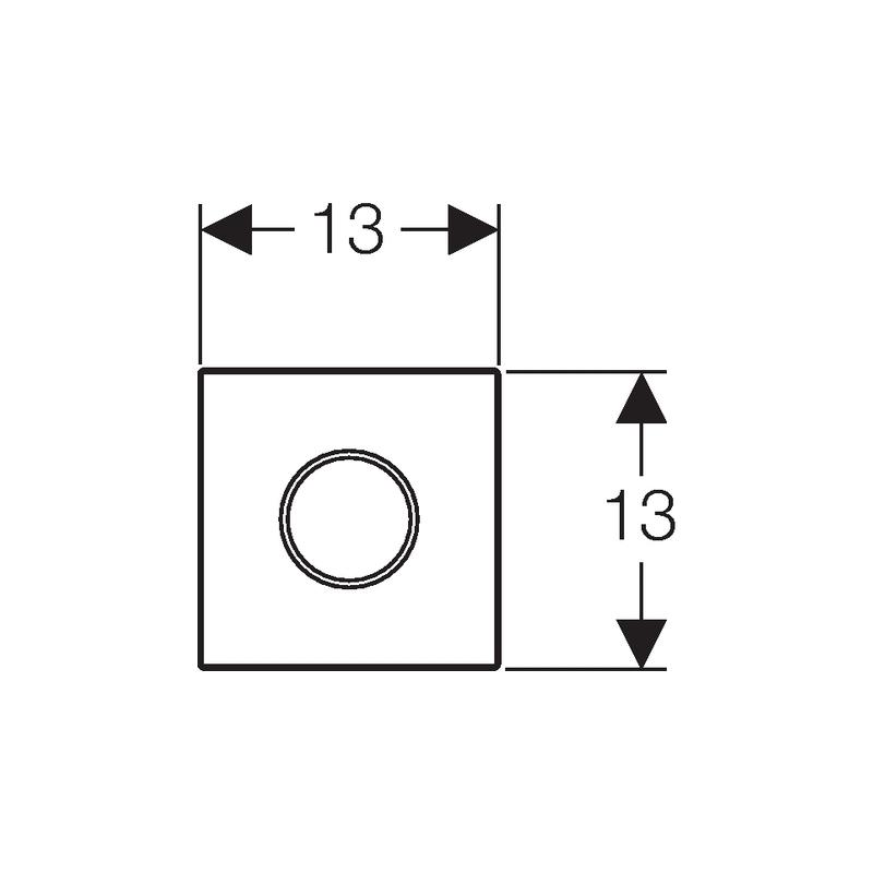 Geberit HyTronic Urinal Control White/Gloss/White
