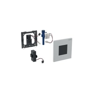 Geberit Sigma30 Urinal Flush Battery Black/Bright Chrome/Black