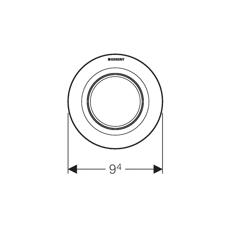Geberit Single Flush Button White Alpine Type 01 for Cistern 8cm