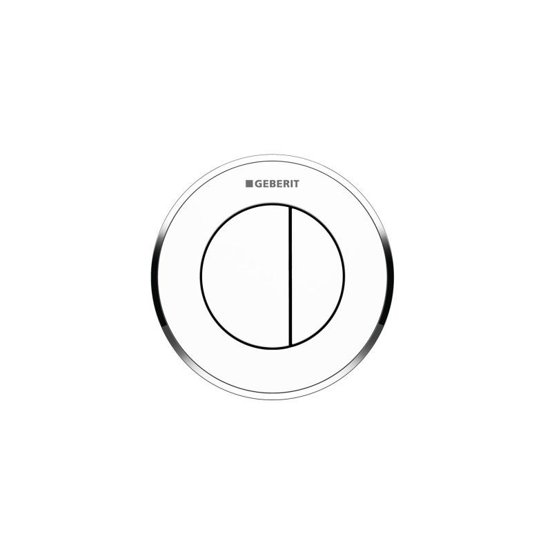 Geberit Dual Flush Button Type 10 12/15cm White/Gloss Chrome