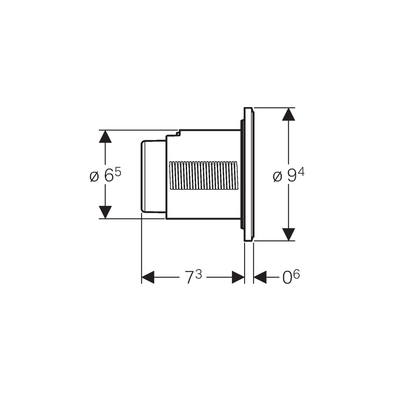 Geberit Dual Flush Button Type 10 8cm White/Gloss Chrome/White