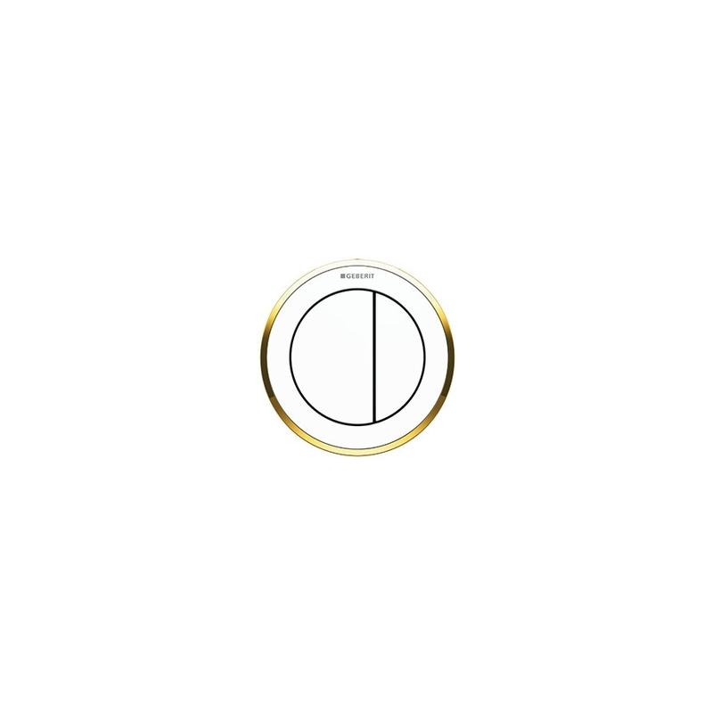 Geberit Dual Flush Button Type 10 White/Gold/White