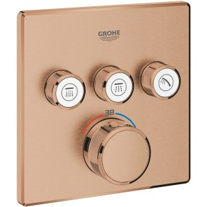 Grohe Smartcontrol Thermostat Trim with 3 Valves 29126 Brushed Sunset