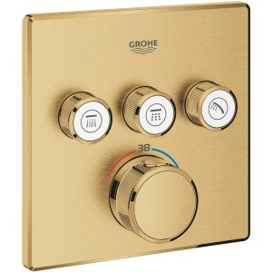 Grohe Smartcontrol Thermostat Trim with 3 Valves 29126 Brushed Sunrise