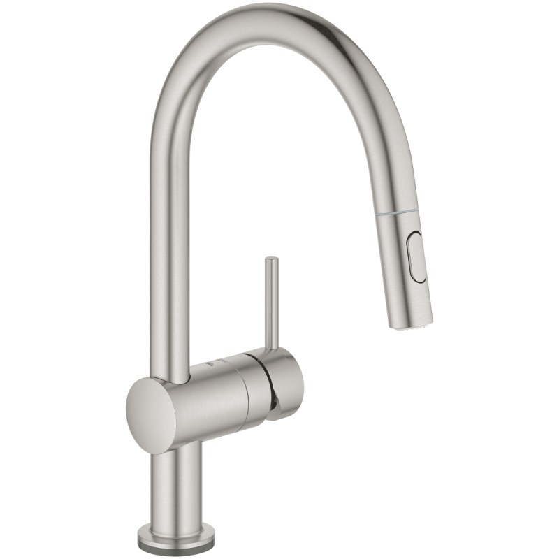 Grohe Minta C-Spout Touch Electronic Kitchen Sink Mixer Supersteel