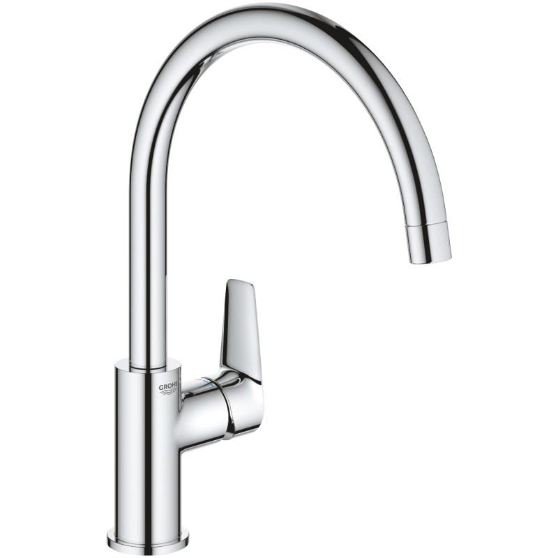Grohe Bauedge Single-Lever Kitchen Sink Mixer Chrome
