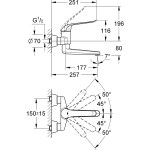 Grohe Euroeco Special Wall Basin Mixer