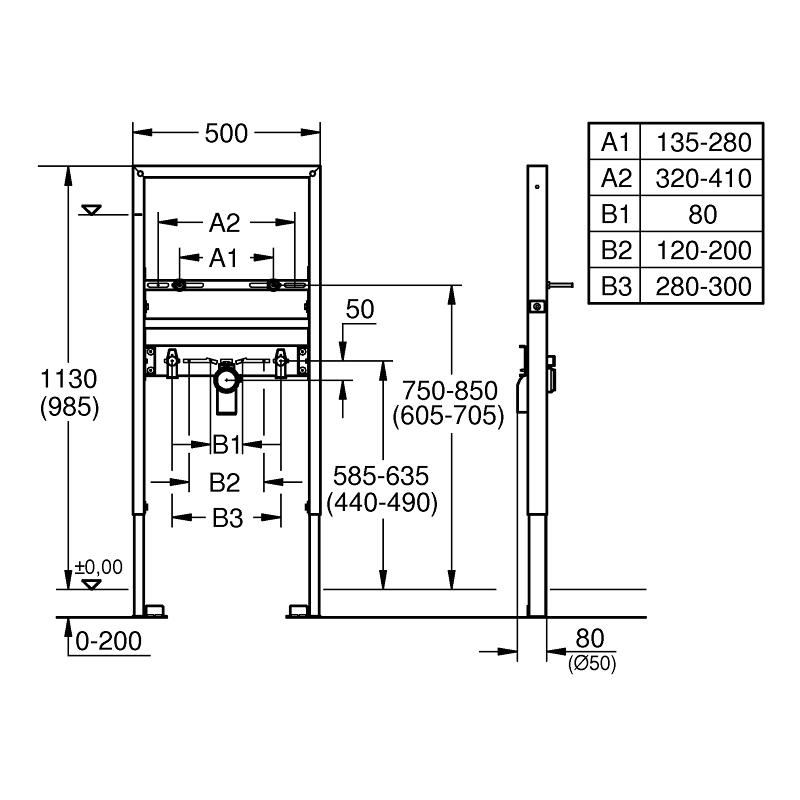 Grohe Rapid SL Element for Basin Single Hole 39052