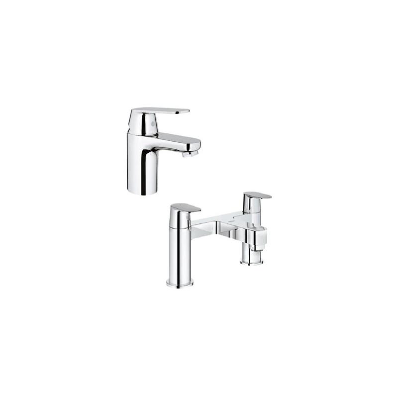 Grohe Eurosmart Cosmo Basin Mixer & Bath Filler Pack