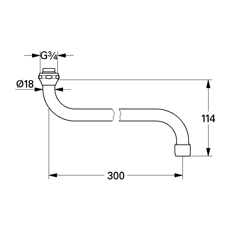Grohe Swivel Tube Spout 13017