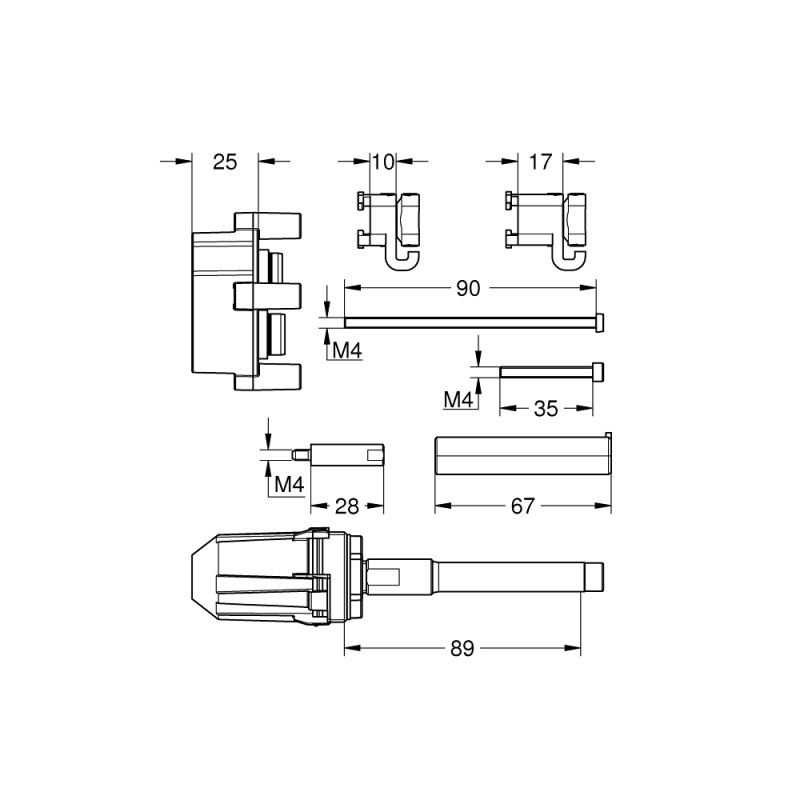 Grohe 25mm Single-Lever Universal Extension Set 14056