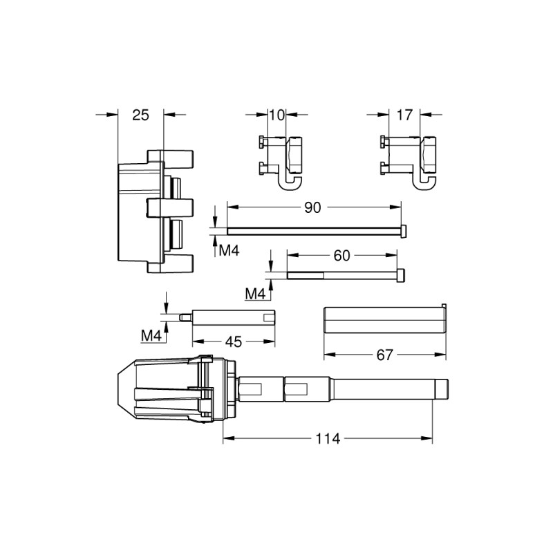 Grohe 50mm Single-Lever Universal Extension Set 14057
