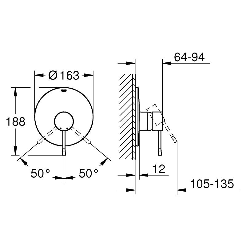 Grohe Essence Shower Mixer Trim 19286 Warm Sunset