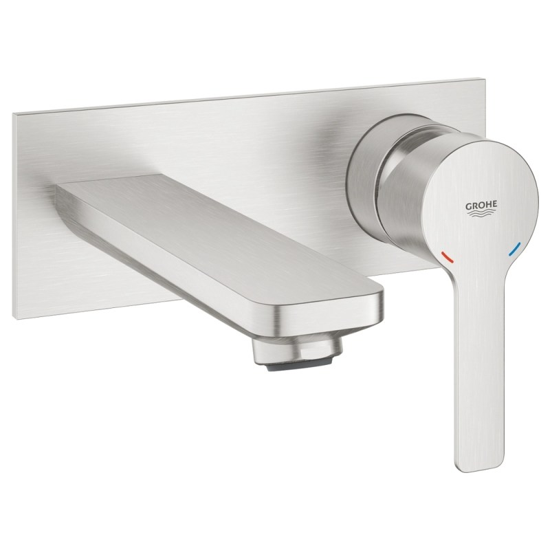 Grohe Lineare 2-Hole Basin Mixer Tap M-Size 19409 Supersteel