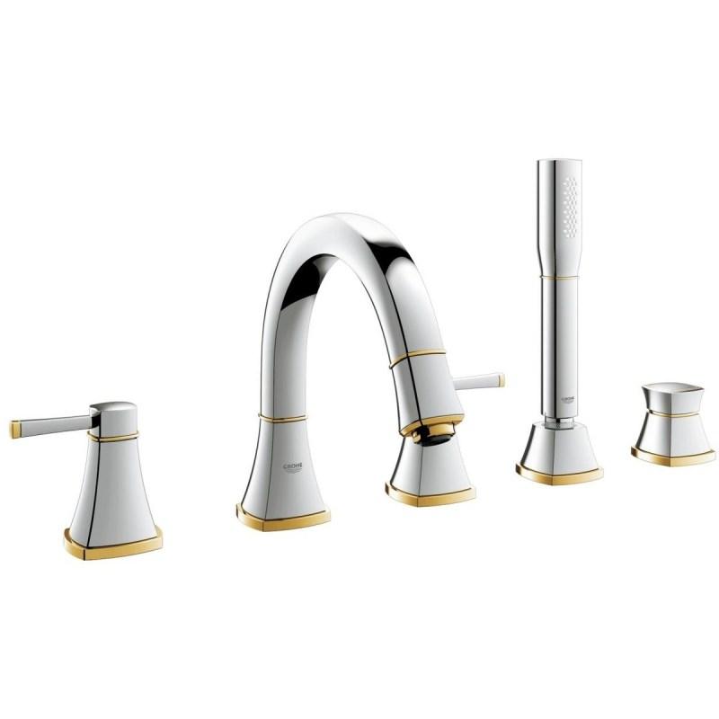 Grohe Grandera 5-Hole Bath/Shower Combination 19919 Chrome/Gold