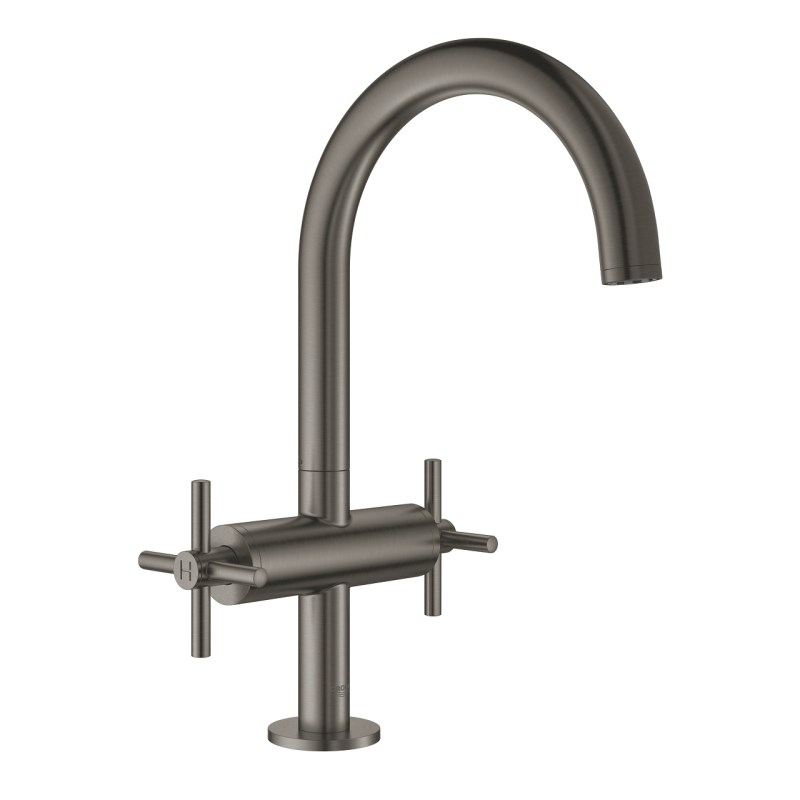 Grohe Atrio Cross Handle Basin Mixer L-Size 21019 Brushed Graphite