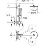 Grohe Eurodisc Cosmopolitan 210 Single Lever Shower System 23058