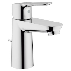 """Grohe Bauedge Mono Basin Mixer with Pop-Up Waste 1/2"""" 23356"""