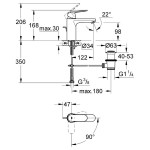 "Grohe Eurosmart Cosmopolitan Mono Basin Mixer 1/2"" Medium 23396"