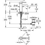 Grohe Essence Basin Mixer Tap S-Size 23589 Warm Sunset