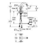 Grohe Atrio Cross Handle Bidet Mixer M-Size 24027